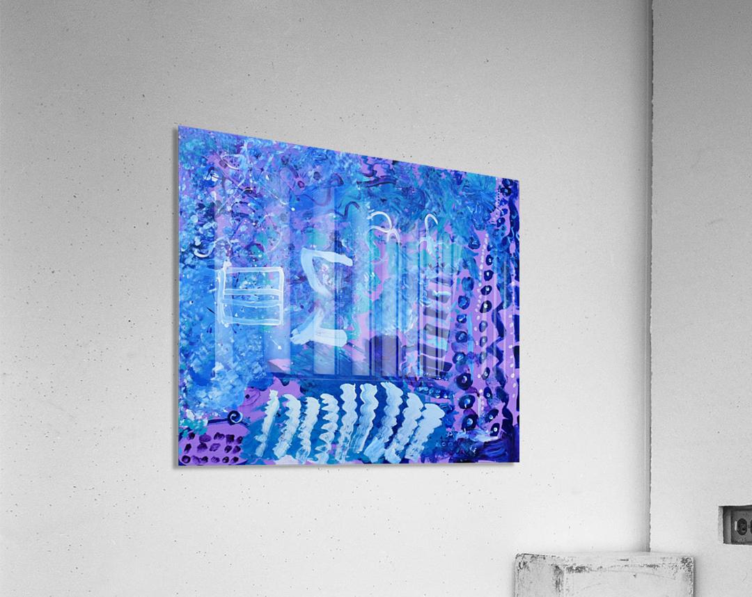 Blue Colab. Arts Education Artist  Acrylic Print