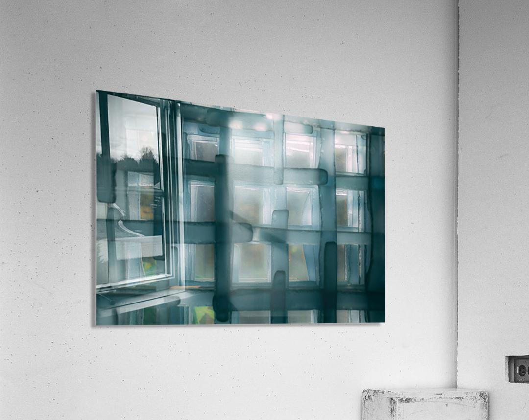 Glass lines 1 triptych  Acrylic Print