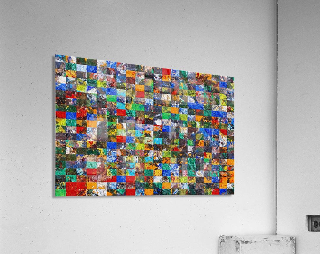 The Wall of Random Bricks  Acrylic Print
