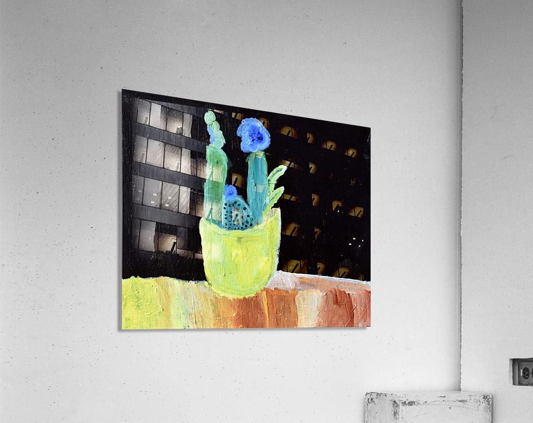 Blue Flower. Marie H  Acrylic Print