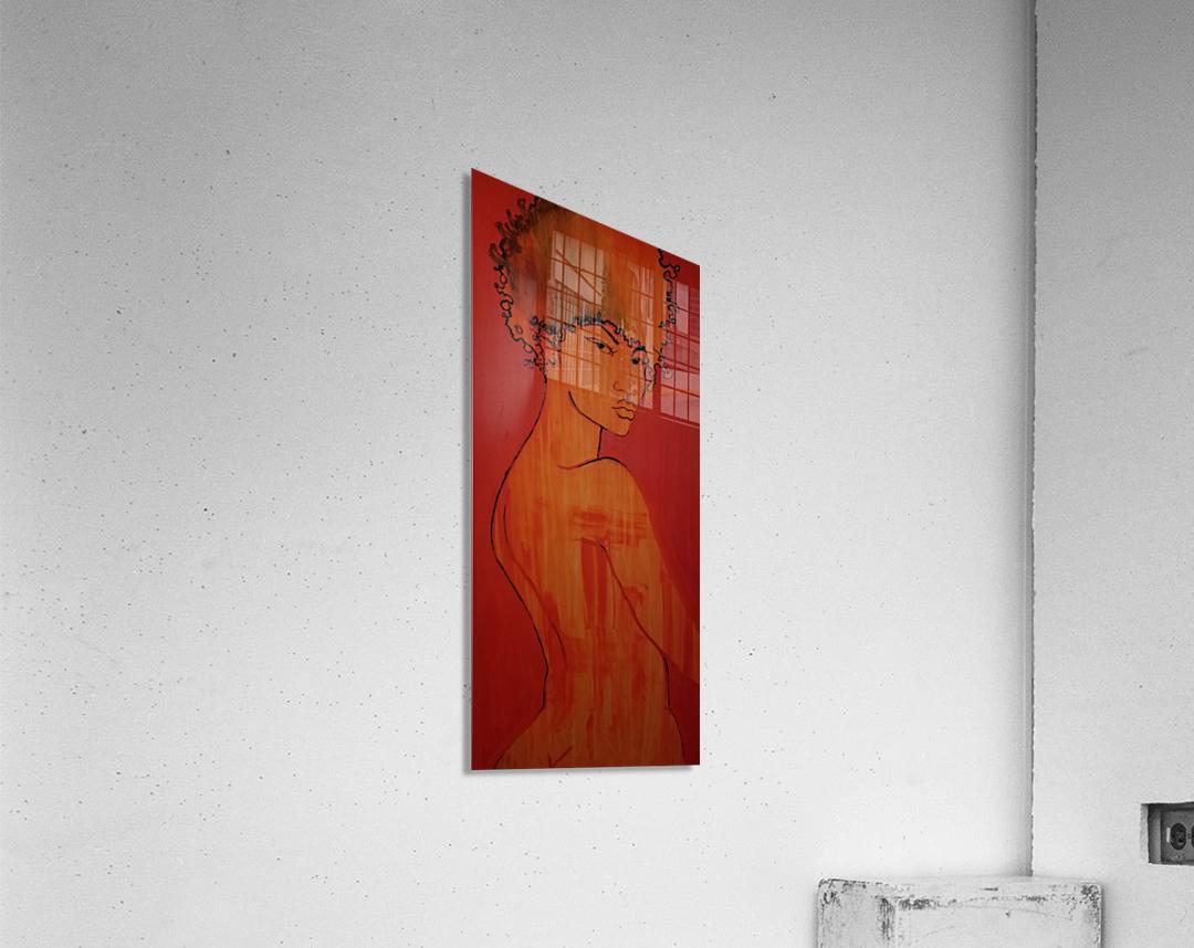Red Girl  Acrylic Print