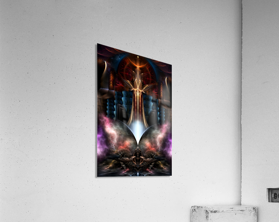 The Trilicon Fractal Art  Acrylic Print