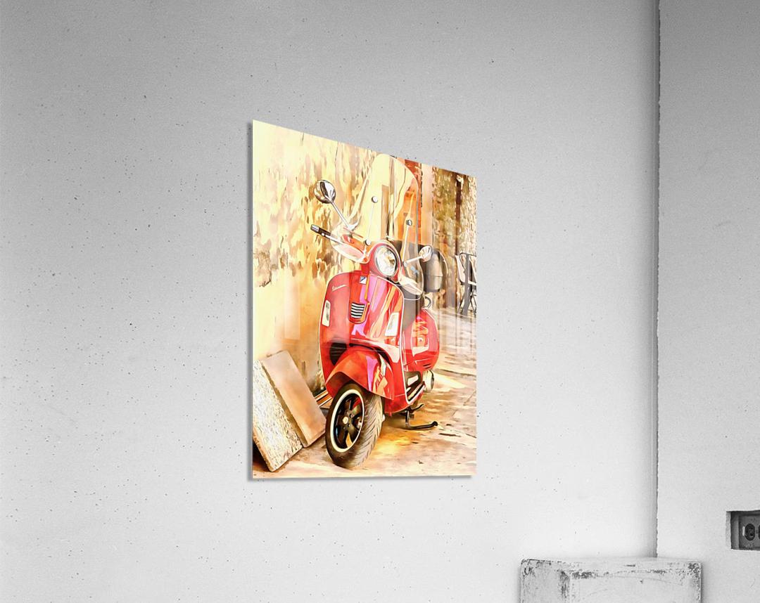 The Red Vespa  Acrylic Print