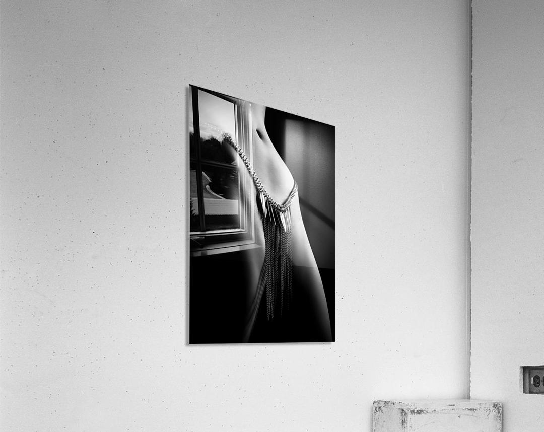 Woman close-up chain panty  Acrylic Print