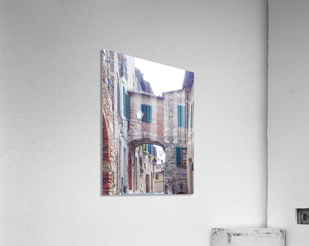 Alleyway Cetona Tuscany  Acrylic Print