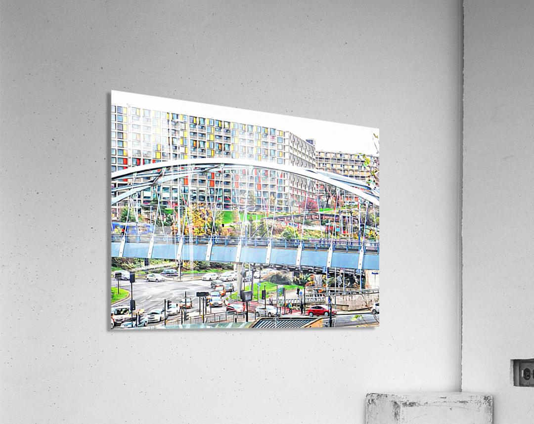 Park Square Bridge Sheffield  Acrylic Print