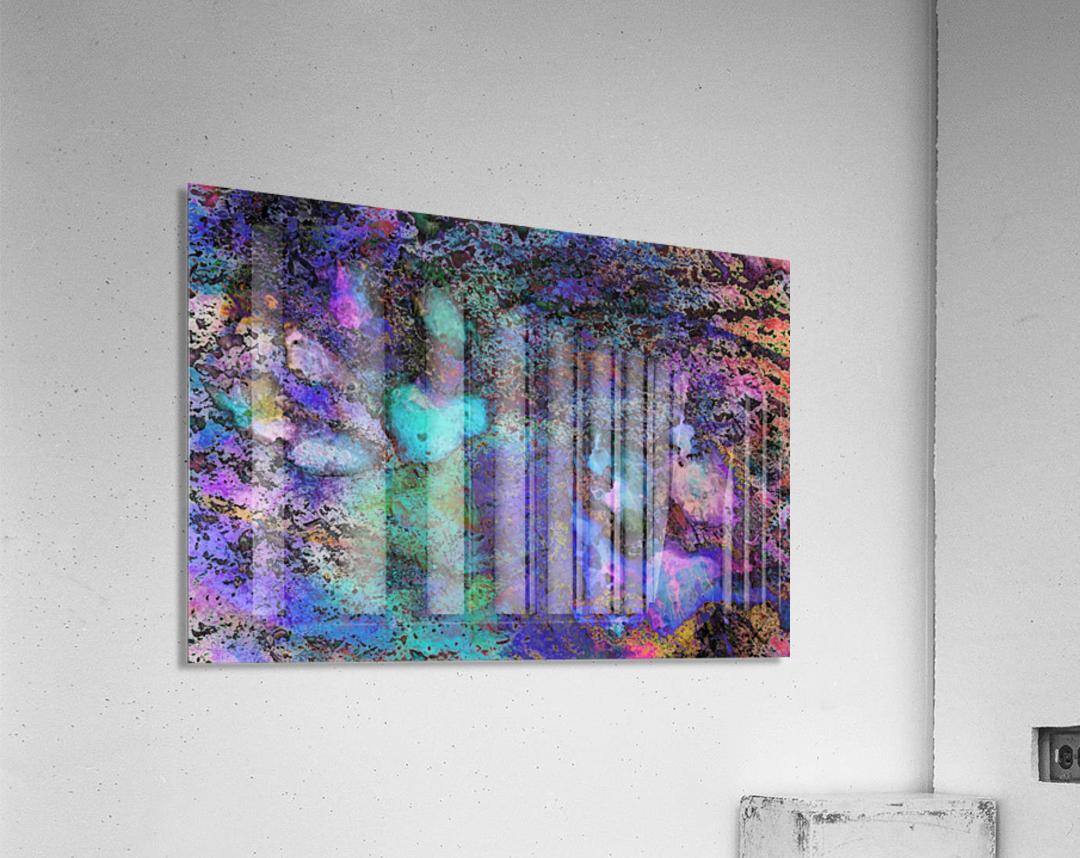 Paw Prints Soft Colours  Acrylic Print