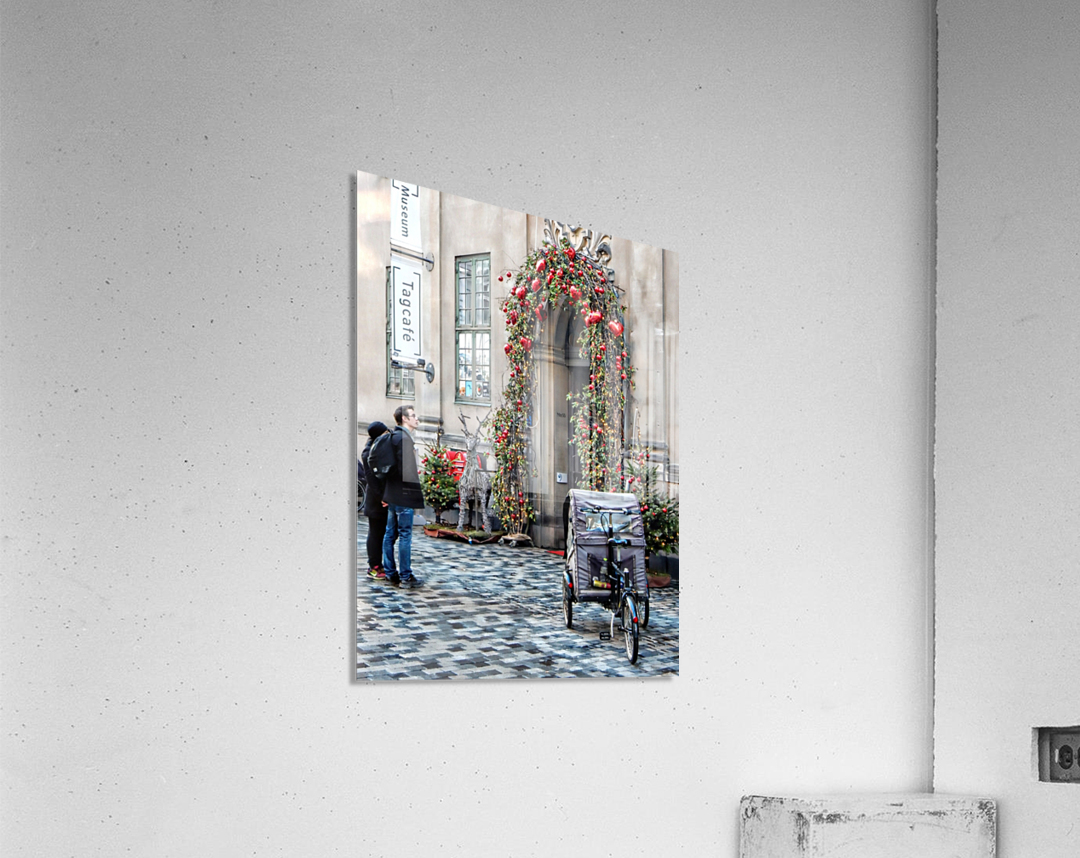 Christmas at a Museum Copenhagen  Acrylic Print