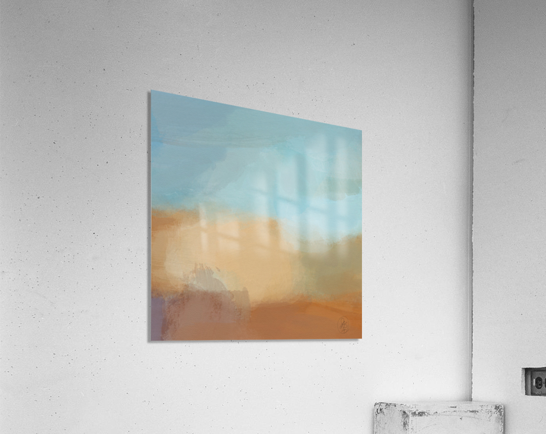 Turquoise and Copper Landscape  Acrylic Print