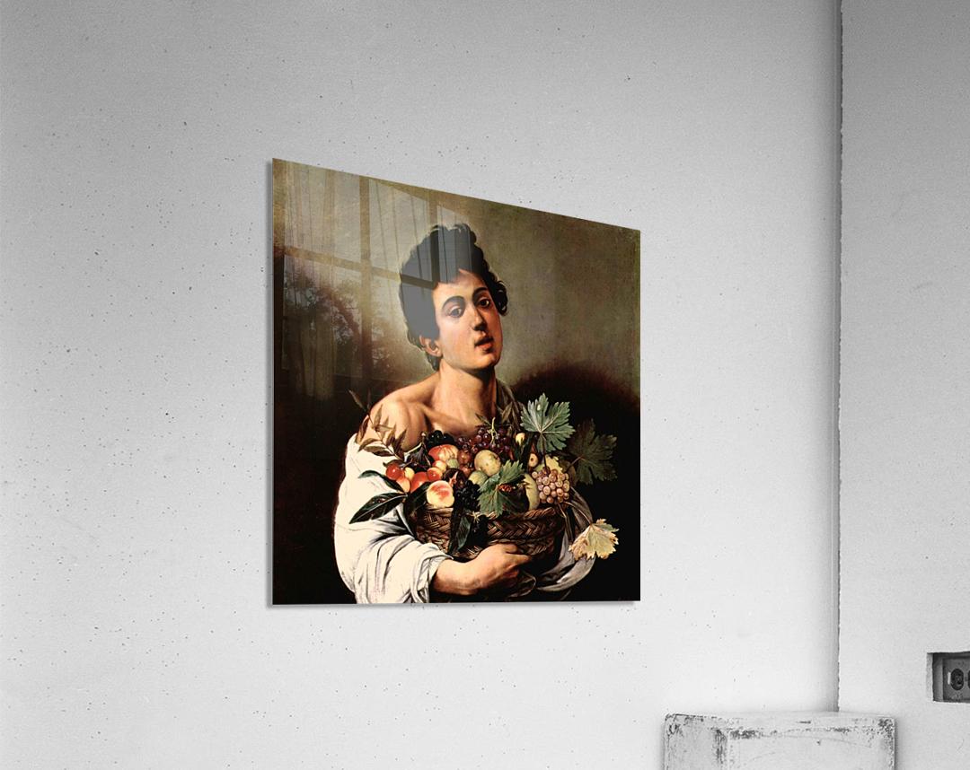 Man with basket  Acrylic Print