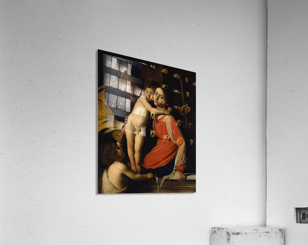The Holy Family with the Infant St. John the Baptist  Acrylic Print