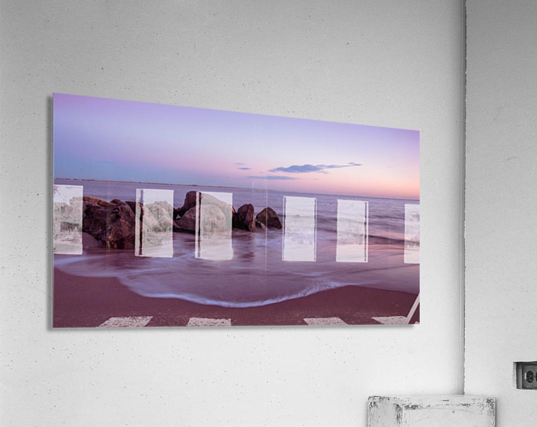 Coney Island sunset  Acrylic Print