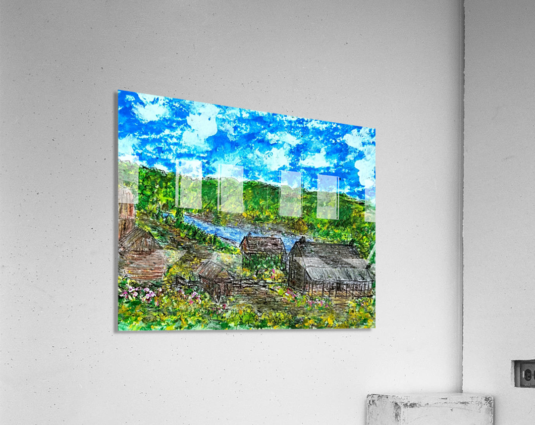 August  Along The River    Acrylic Print