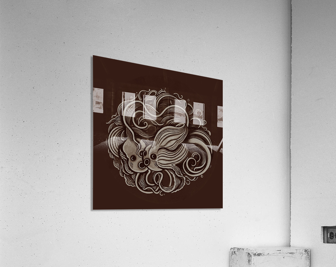 Lunar New Year Sepia  Acrylic Print