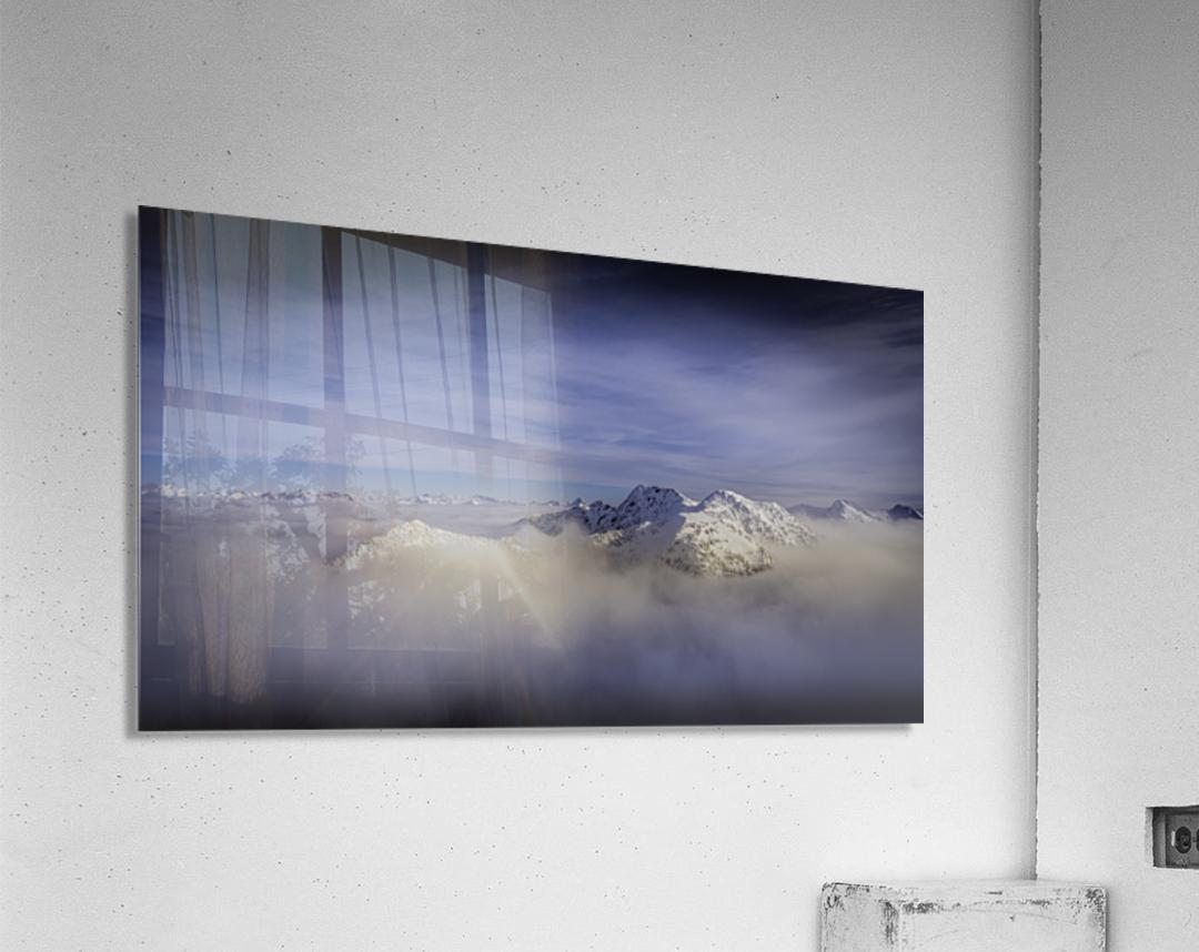 Alpine inversion Kootenay Back country   Acrylic Print
