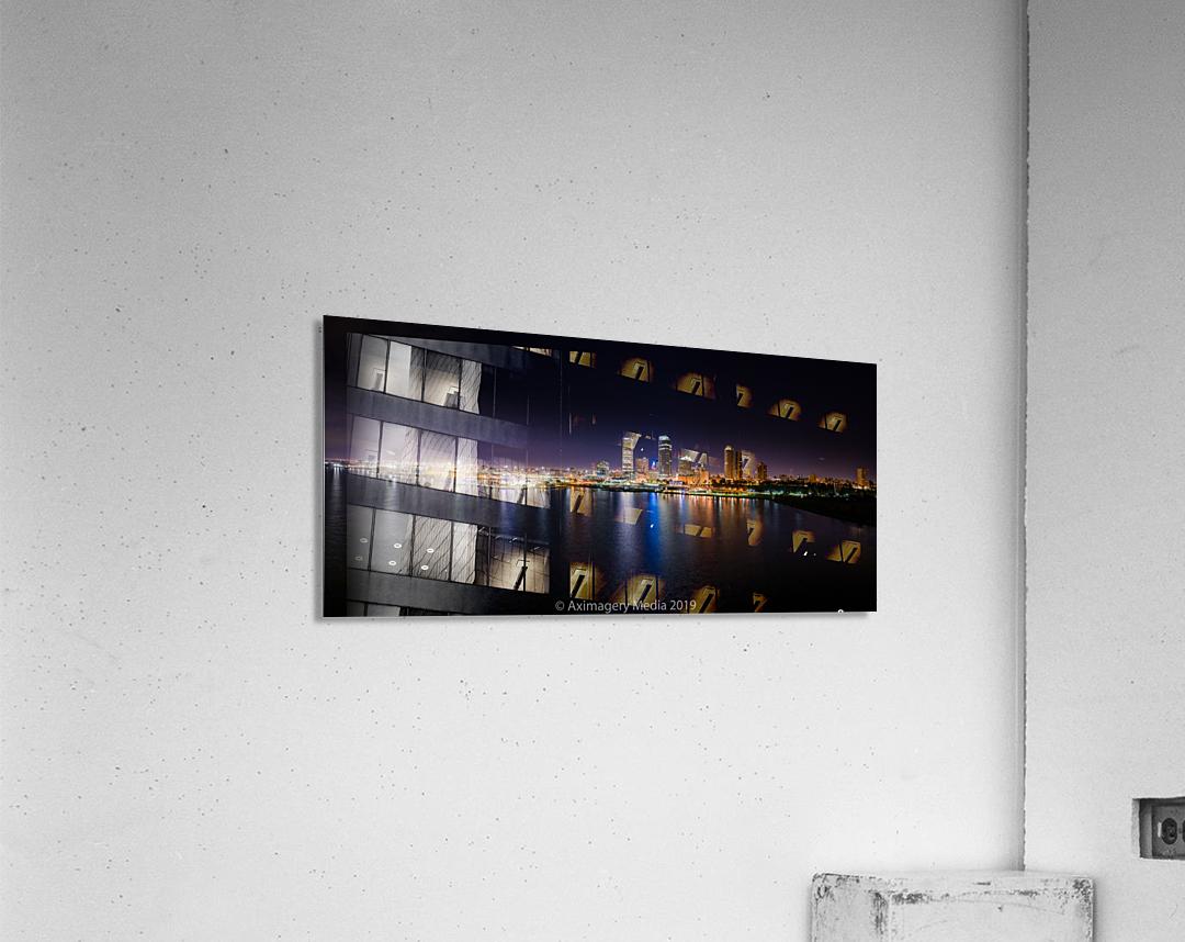 Milwaukee Skyline of Color  Impression acrylique