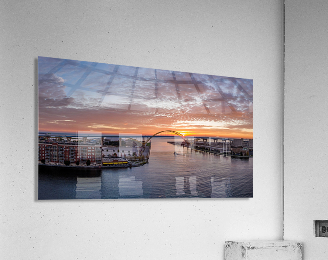 Sunrise Over Hoan  Impression acrylique