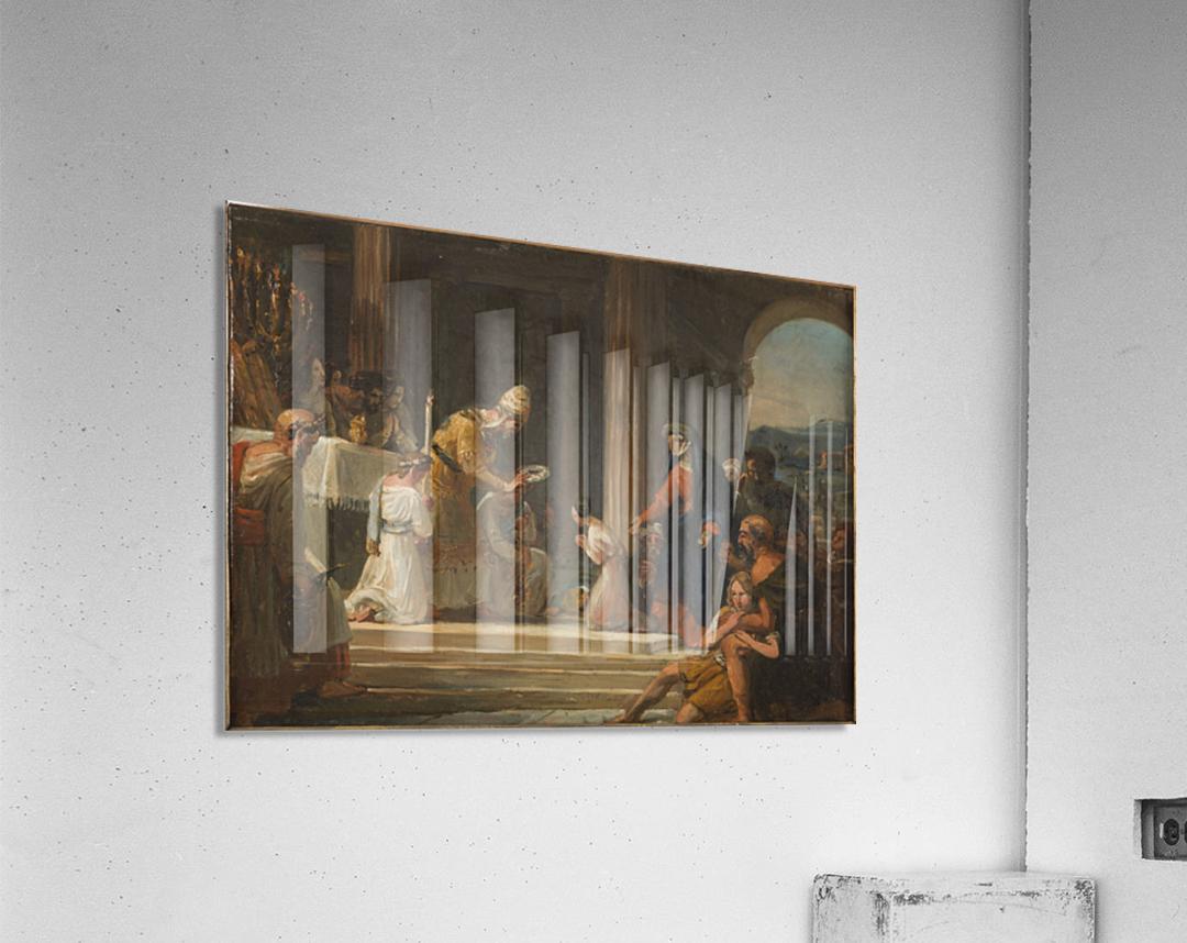 Esquisse pour l eglise Notre Dame de Lorette Consecration de la Vierge  Acrylic Print