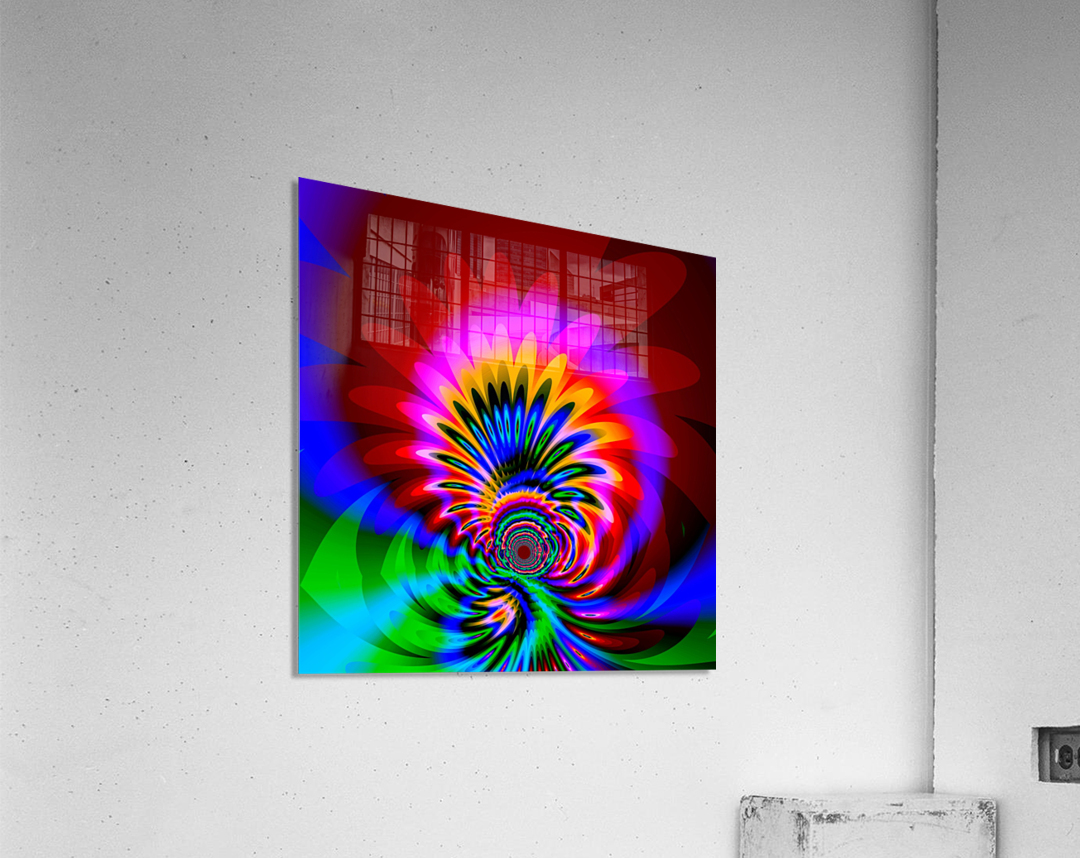 Psychedelic_Flower_series_3  Acrylic Print