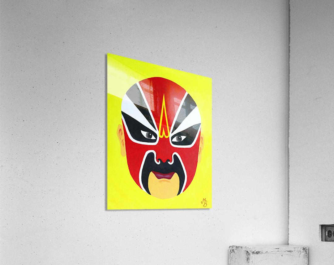 Zhuan Zhu - Chinese Opera Mask  Acrylic Print