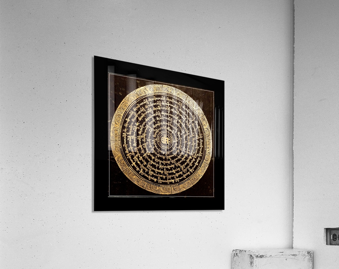 Nepali Goldwork: Serenity  Acrylic Print