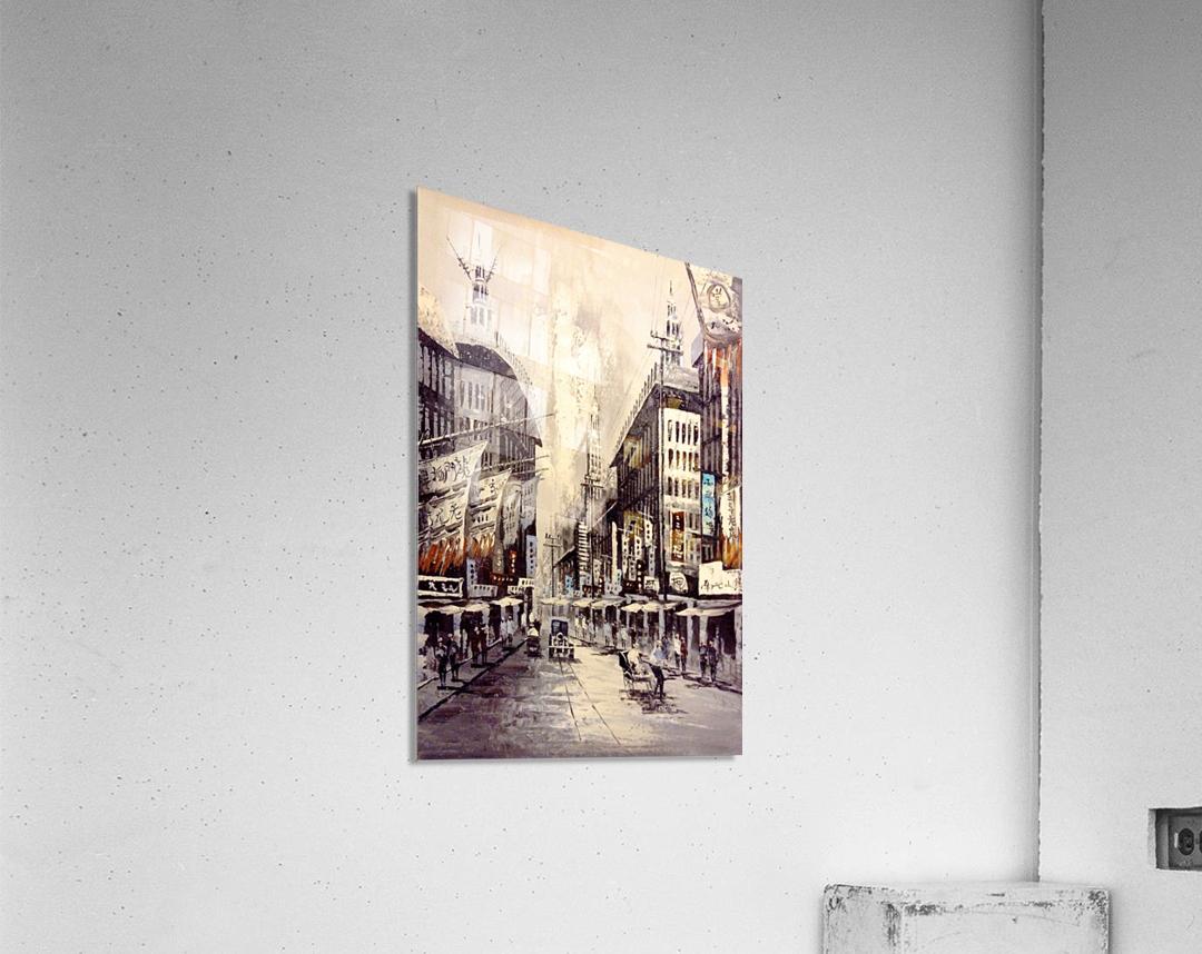 Old Hong Kong Street View  Acrylic Print