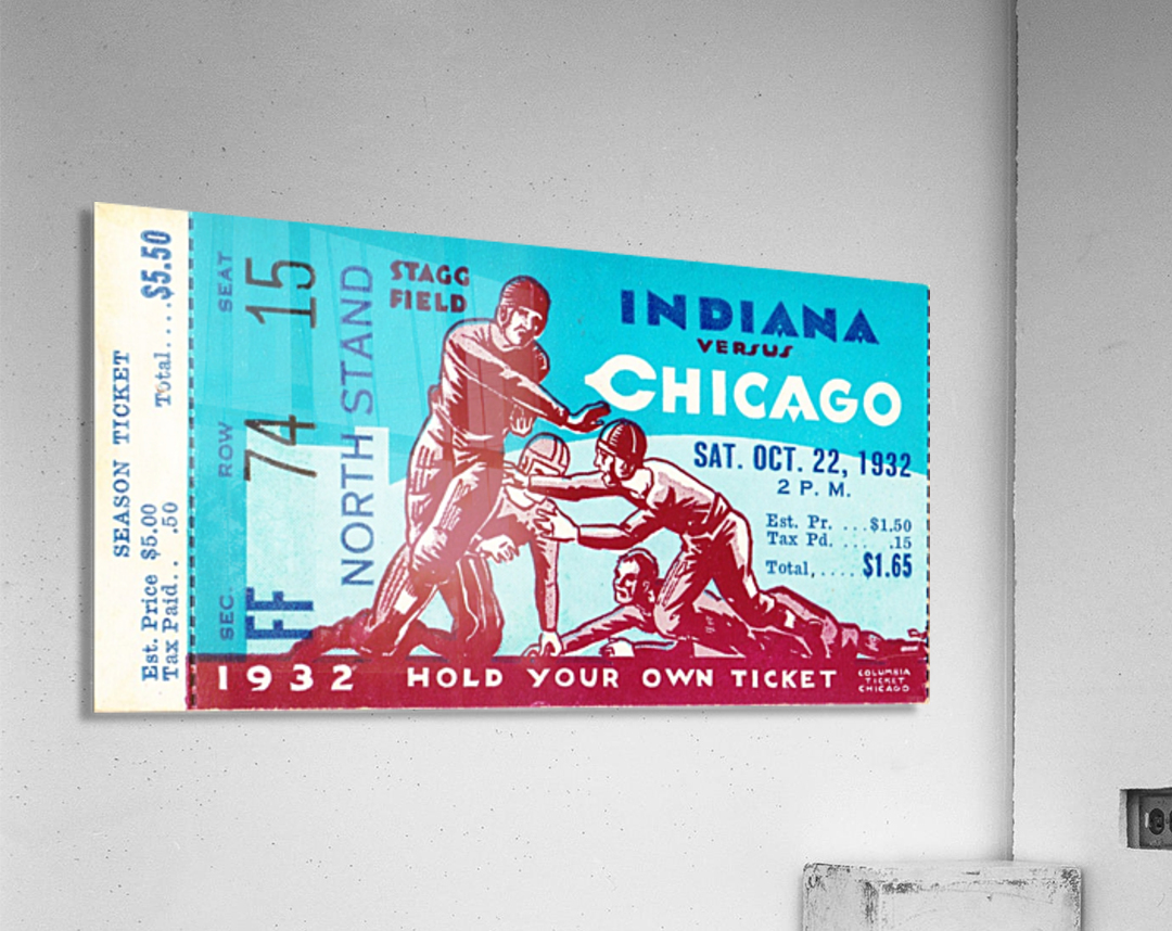 1932 Indiana vs. Chicago  Acrylic Print