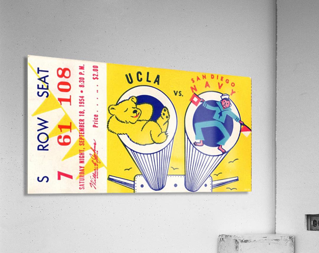 1954 Navy vs. UCLA Bruins Football Ticket Stub  Acrylic Print