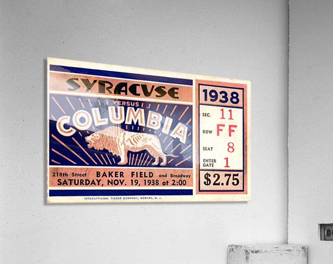 1938_College_Football_Syracuse vs. Columbia_Baker Field_New York City_Row One Brand  Acrylic Print
