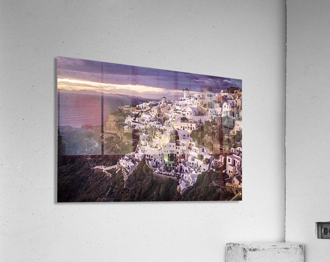 Santorini Sunset  Acrylic Print