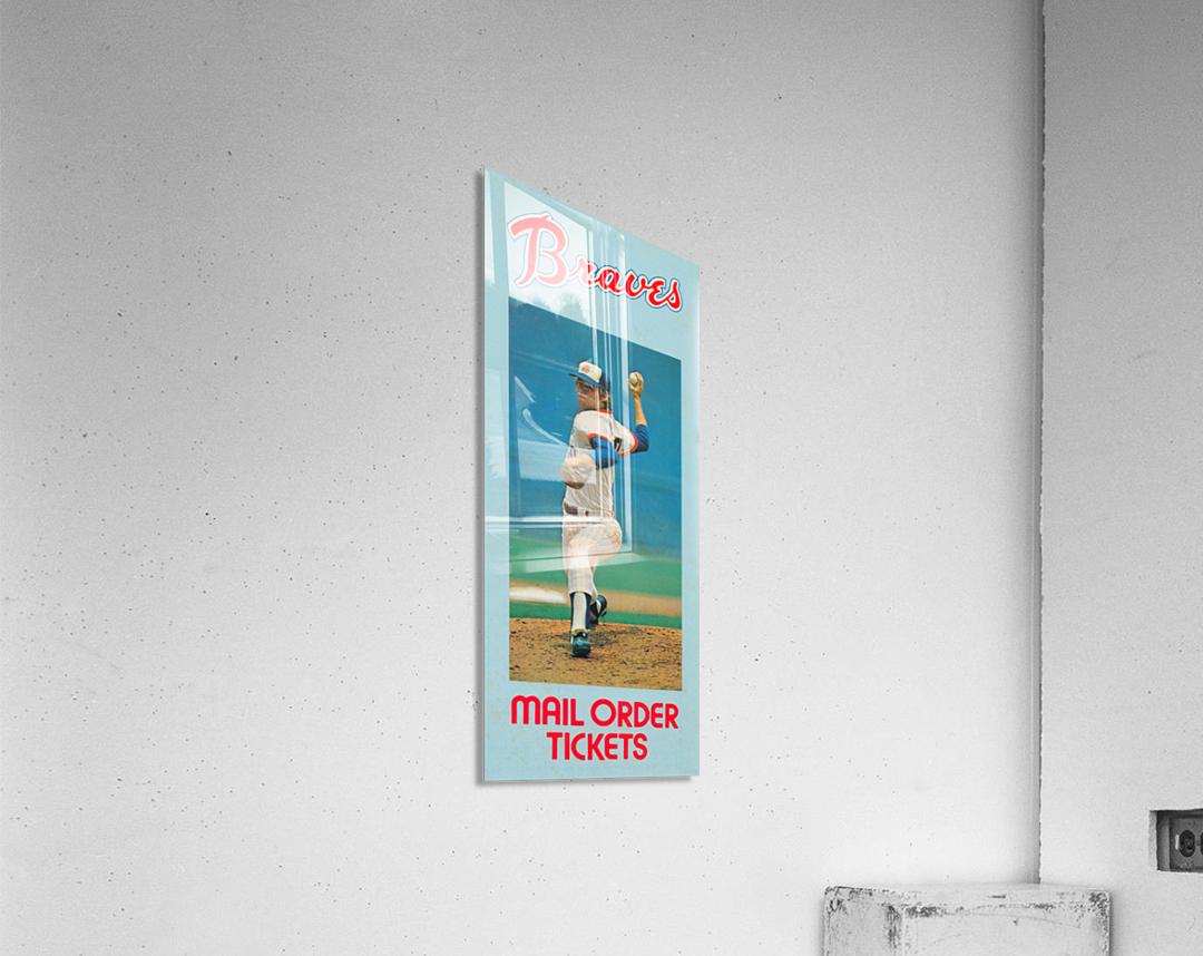 1977 Atlanta Braves Season Ticket Order Form Reproduction Baseball Art  Acrylic Print