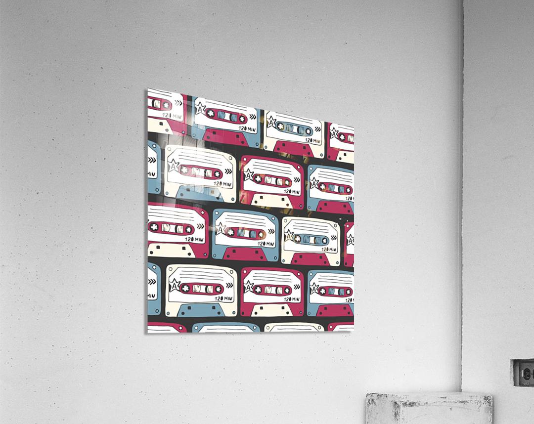 music symbols rock music seamless pattern  Acrylic Print