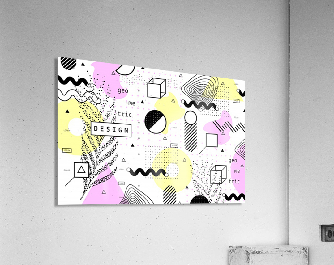 graphic design geometric background  Acrylic Print