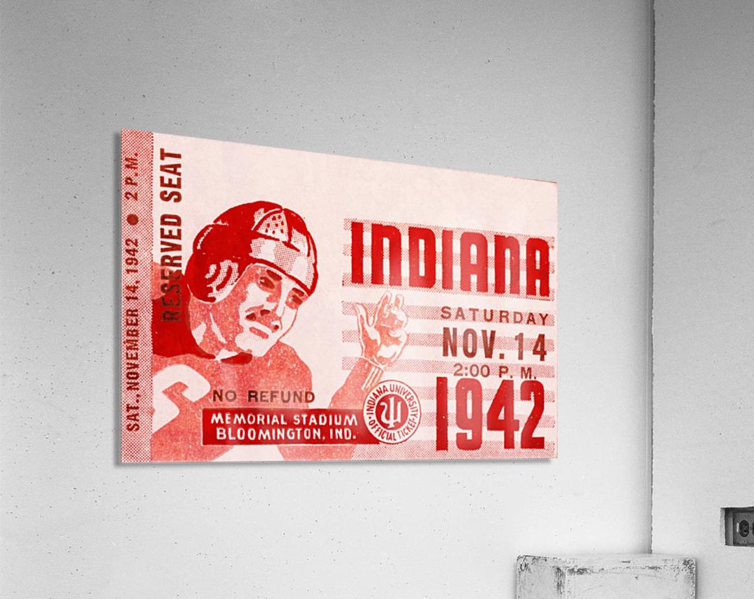 1942 Indiana Football Art  Acrylic Print
