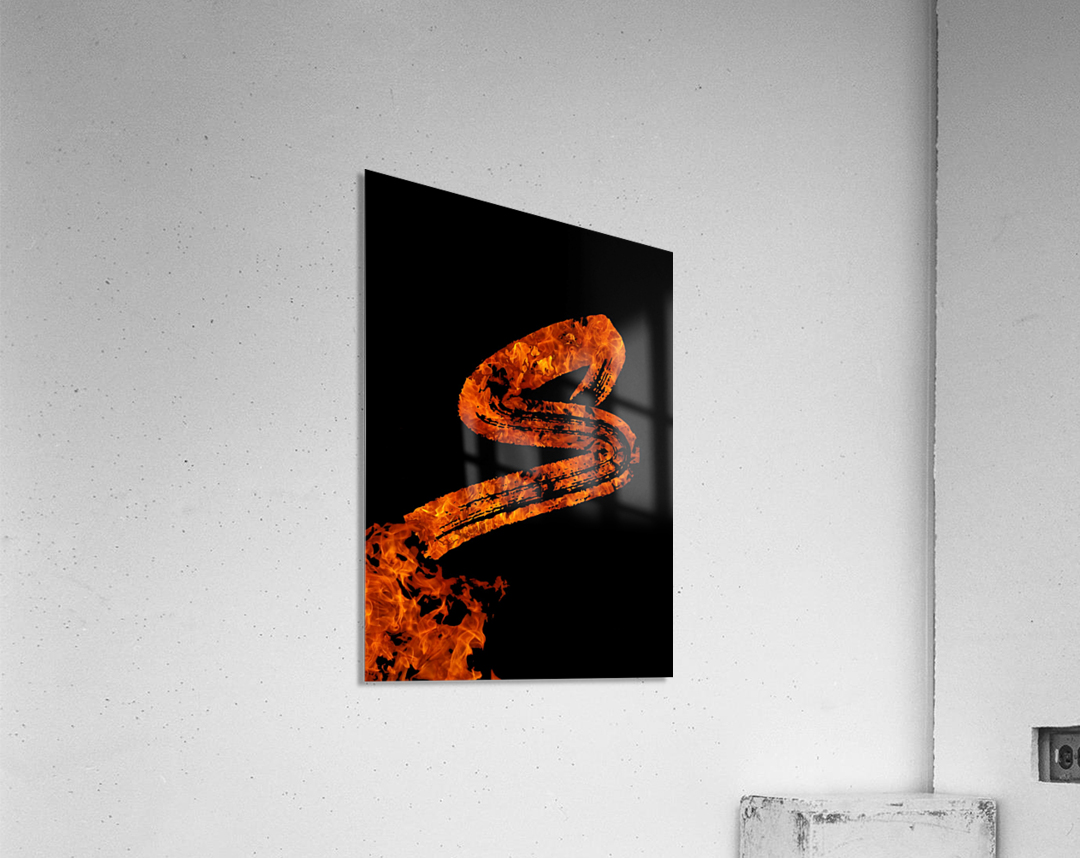 Burning on Fire Letter S  Acrylic Print