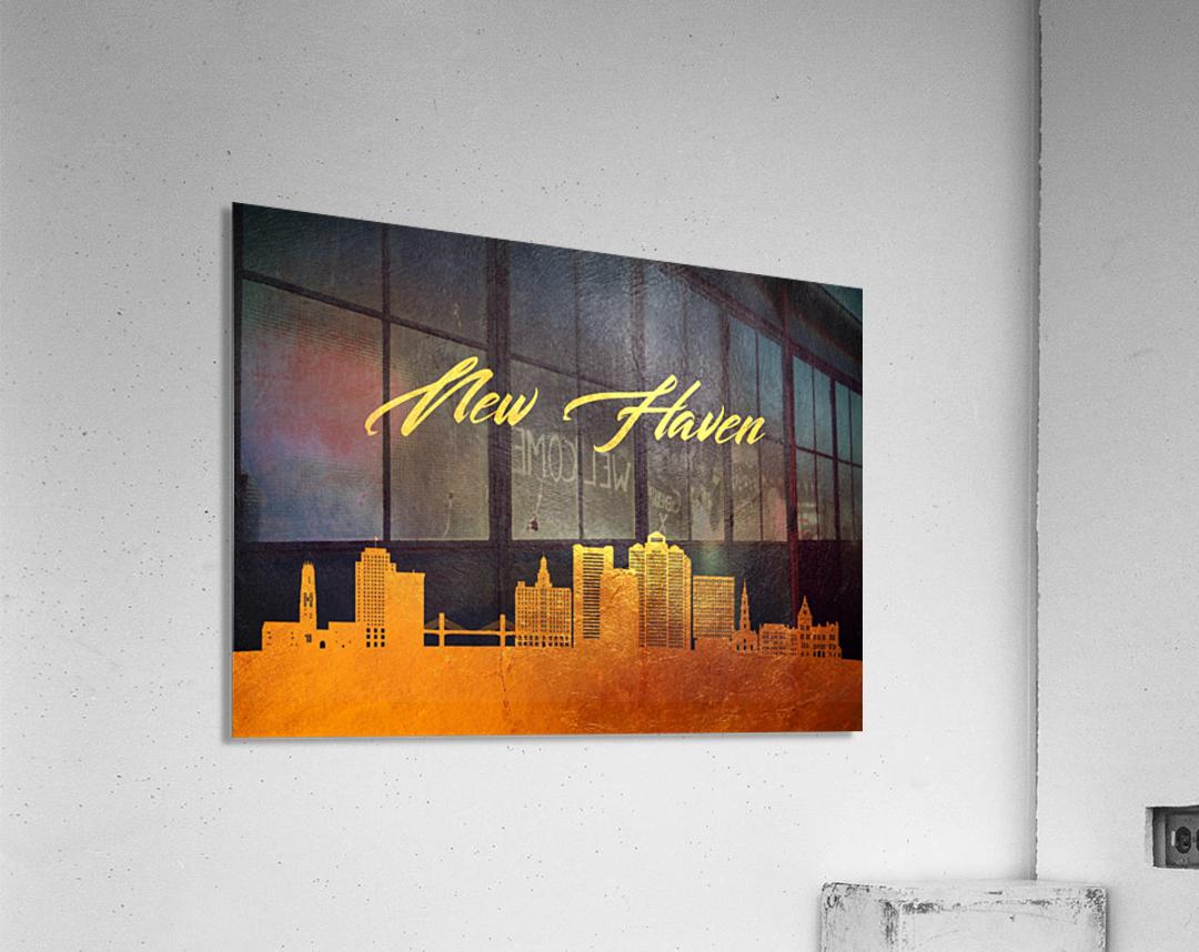 New Haven Connecticut Skyline Wall Art  Acrylic Print