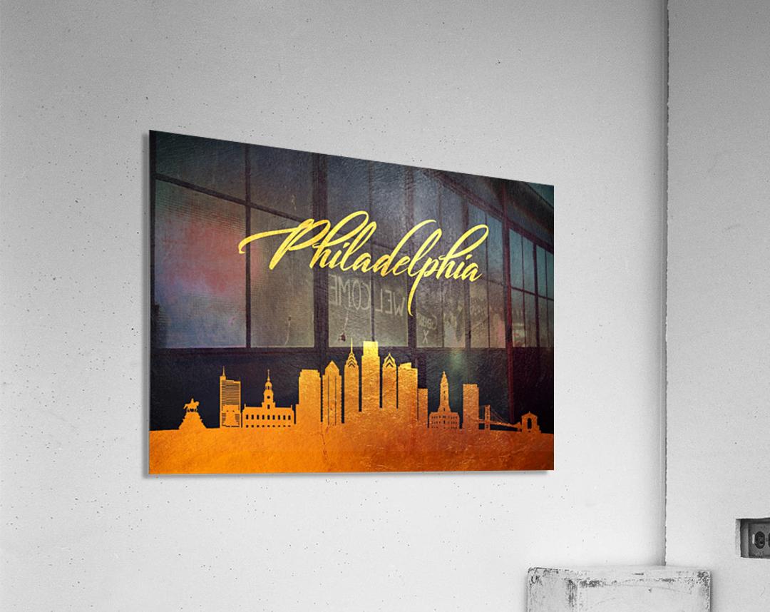 Philadelphia Pennsylvania Skyline Wall Art  Acrylic Print