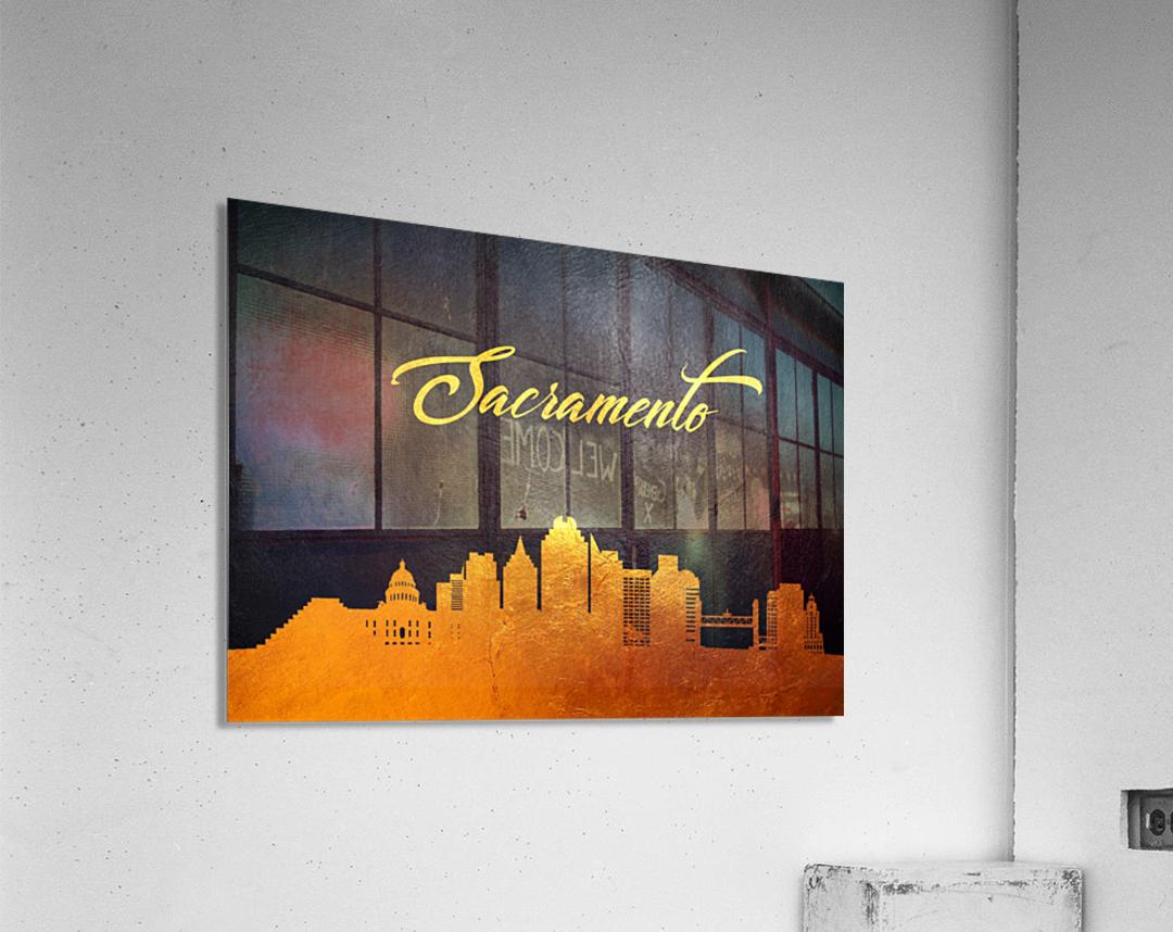 Sacramento California Skyline Wall Art  Acrylic Print