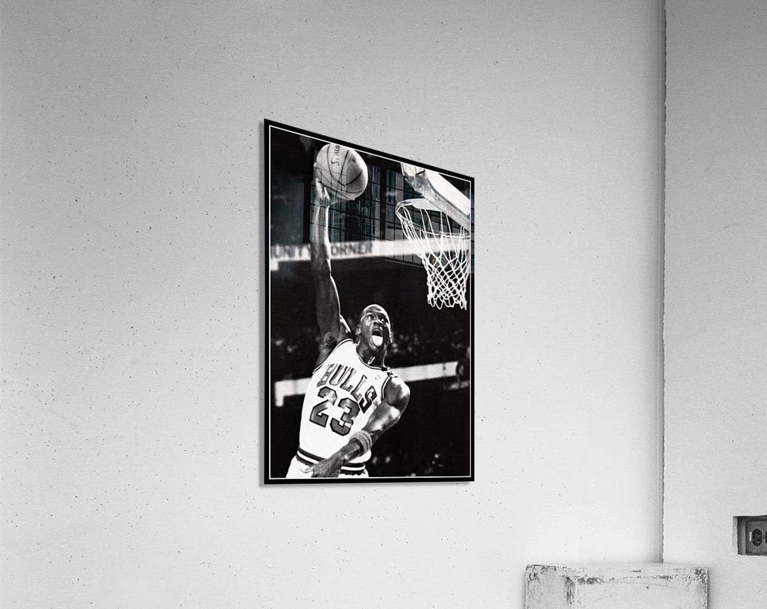 Retro Eighties Michael Jordan Basketball Art Print  Acrylic Print