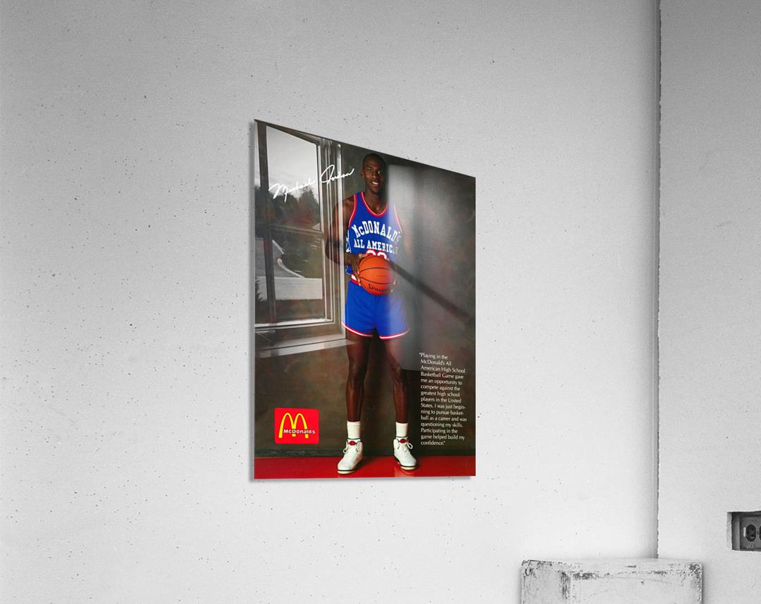 1987 McDonalds Michael Jordan Ad Poster  Acrylic Print