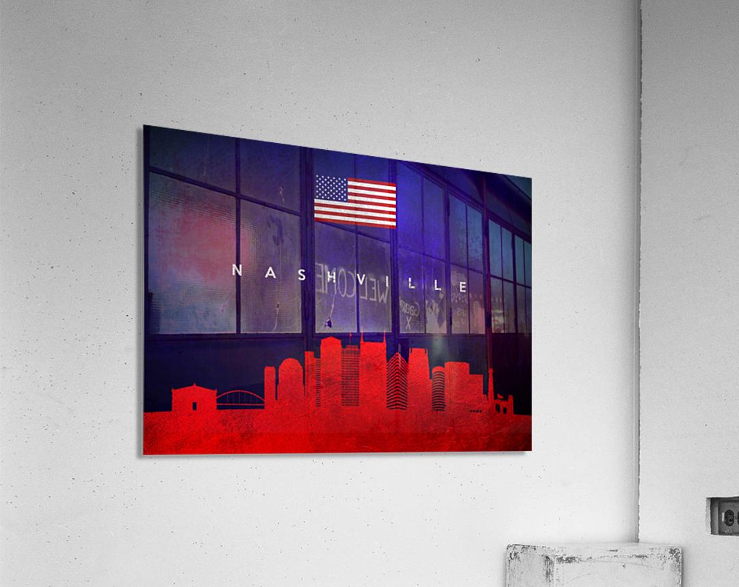 Nashville Tennessee Skyline Wall Art  Acrylic Print