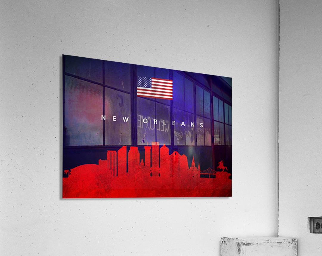 New Orleans Louisiana Skyline Wall Art  Acrylic Print