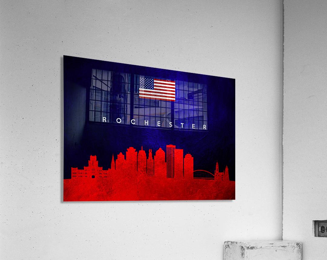 Rochester New York Skyline Wall Art  Acrylic Print