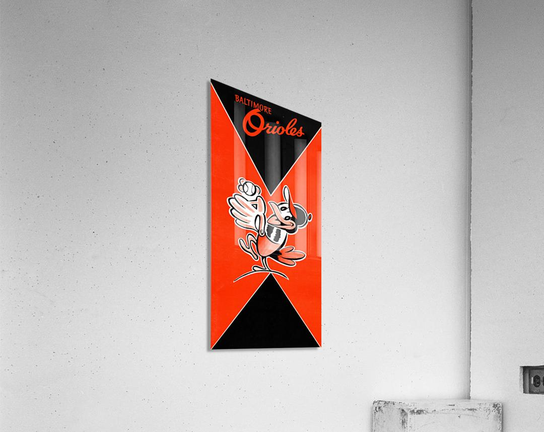 Row One Retro Remix Baltimore Orioles Press Guide  Acrylic Print