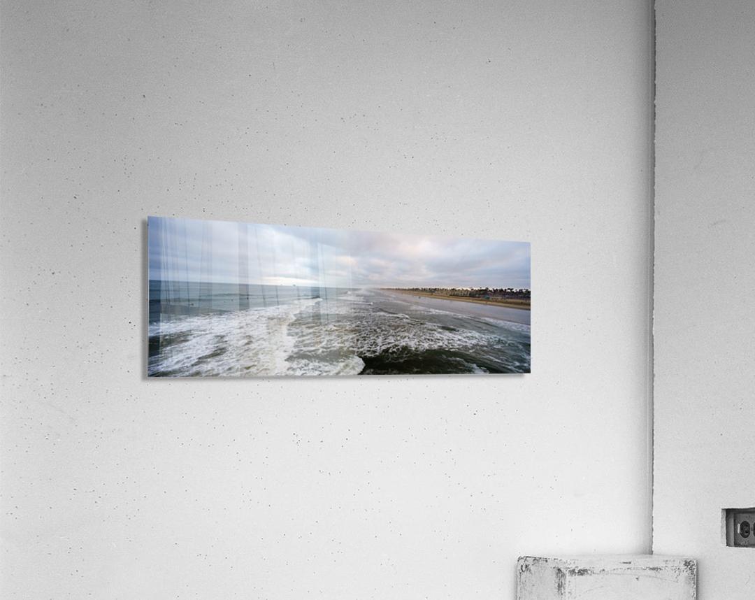 Huntington Beach Panorama  Impression acrylique
