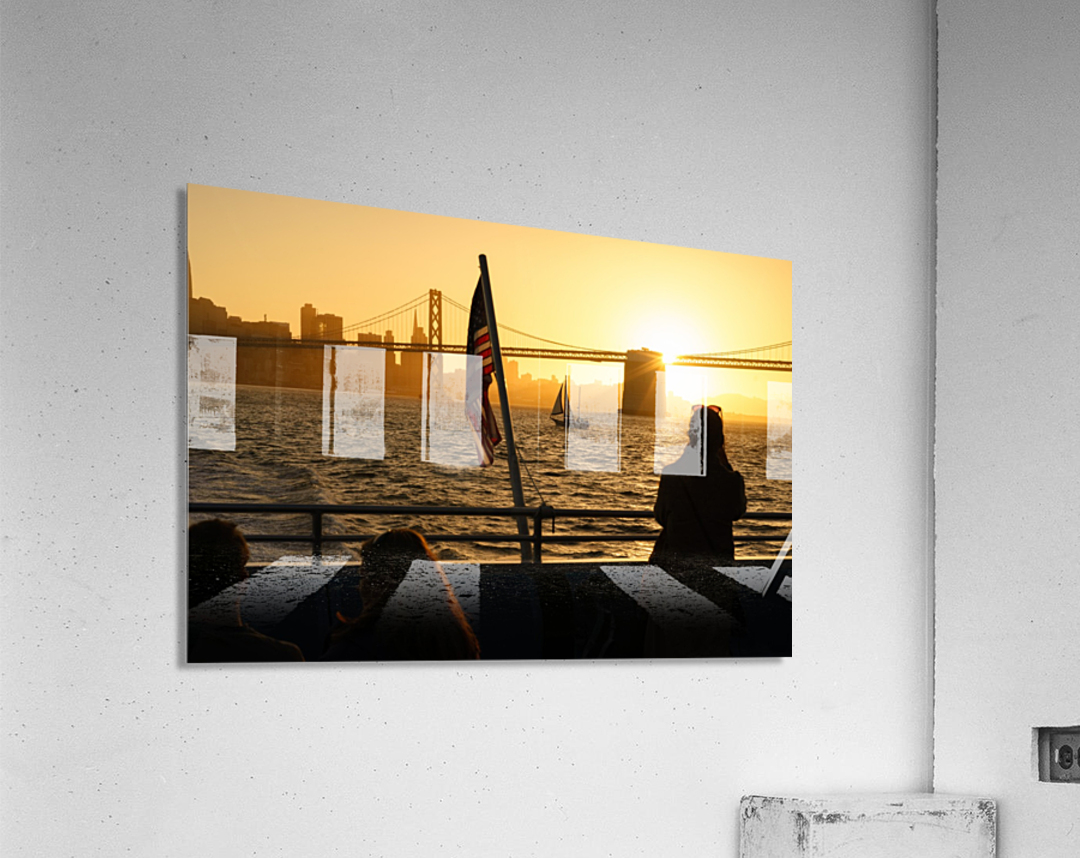 Sunset In The Bay  Acrylic Print