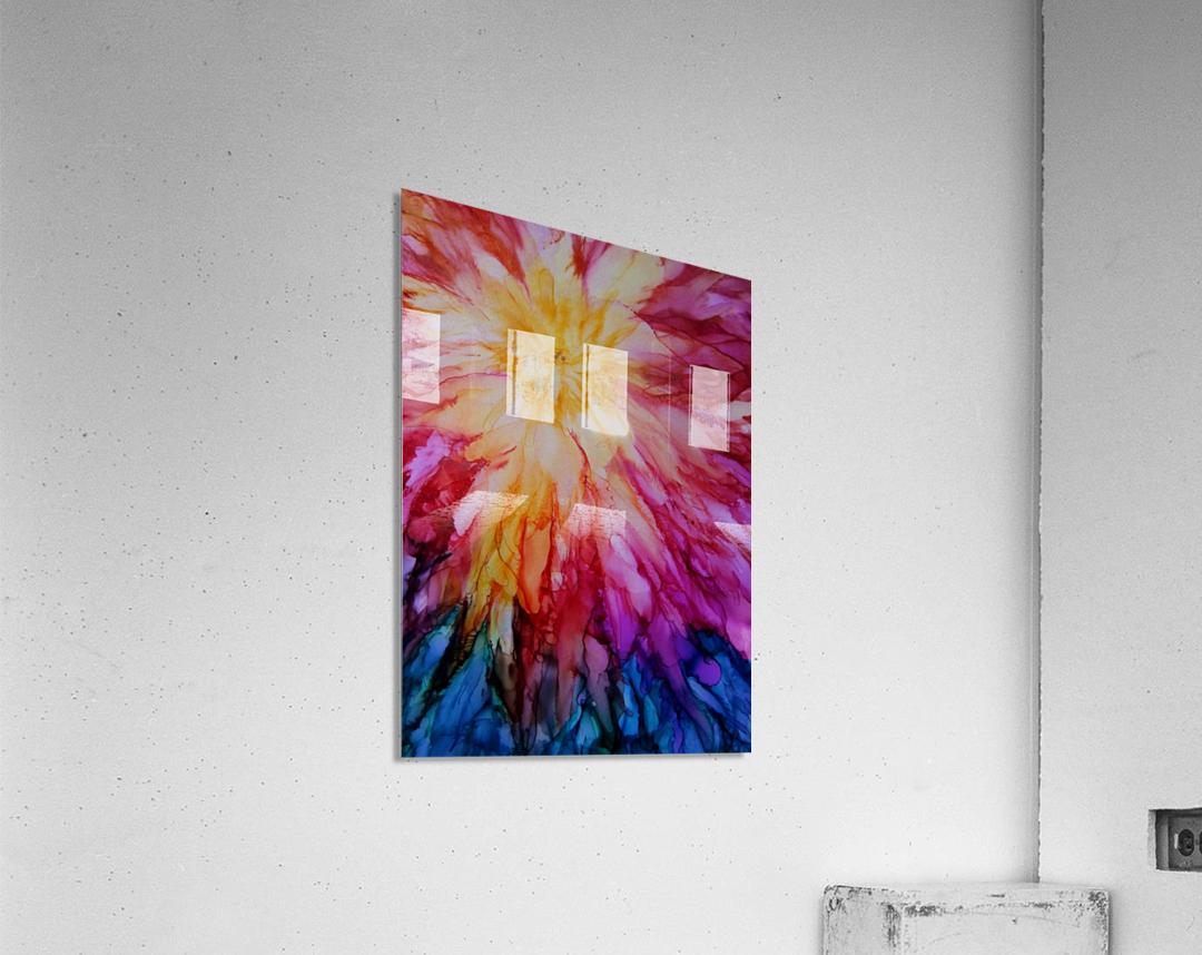 Rainbow Bloom  Acrylic Print