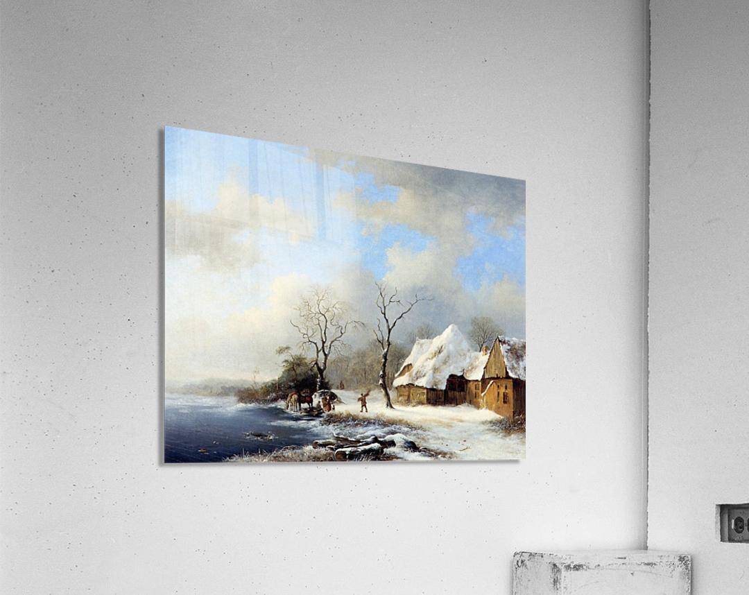 Winterlandscape Sun  Acrylic Print