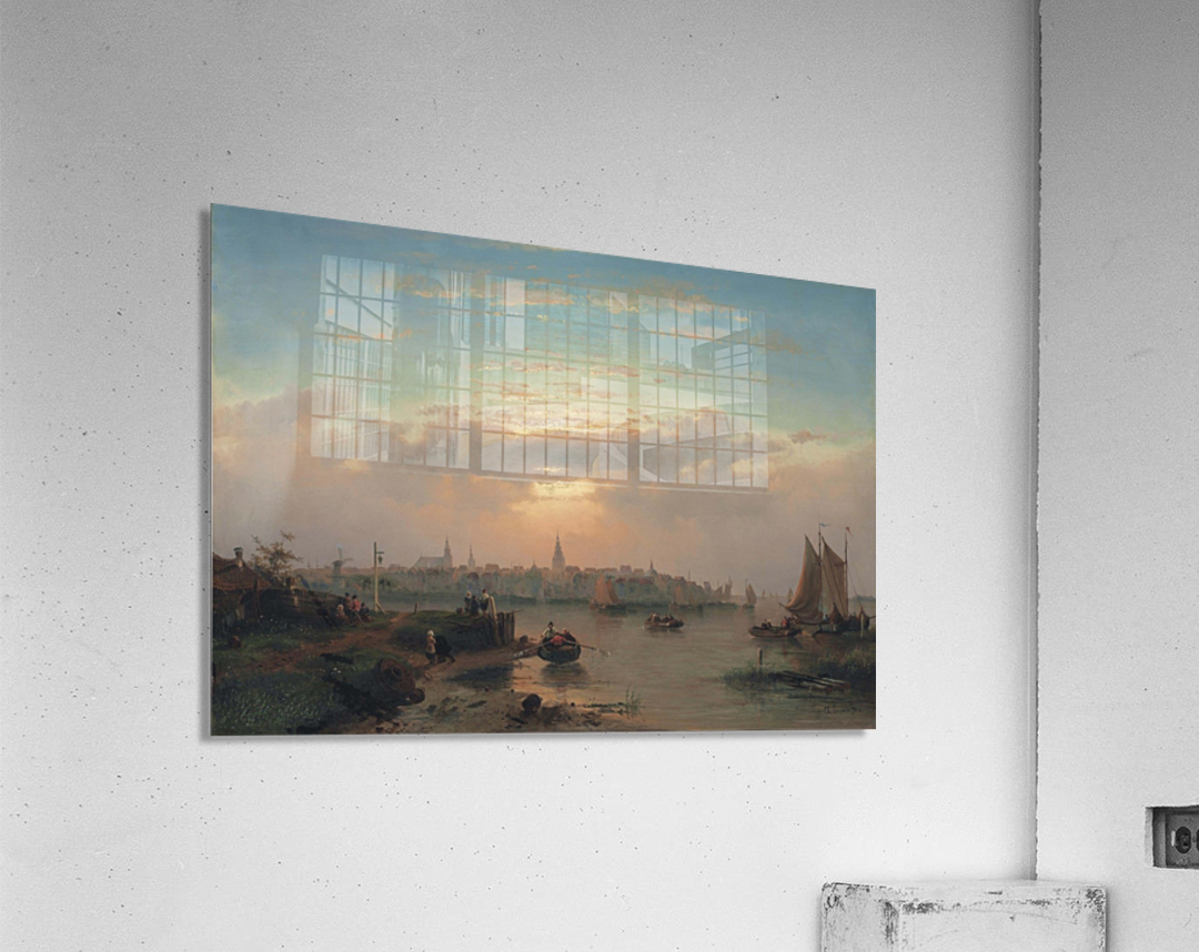 Evening on the Scheldt, Holland  Acrylic Print