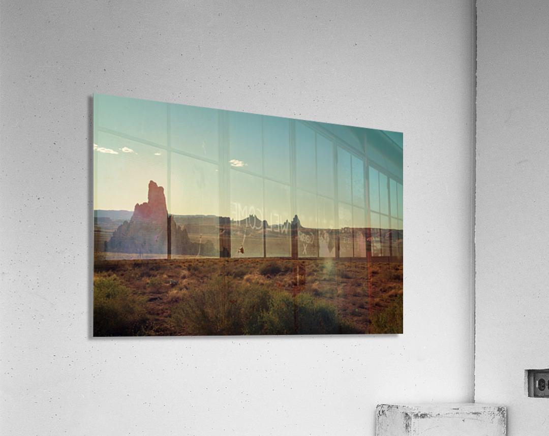 Desert Scene Sunset  Acrylic Print